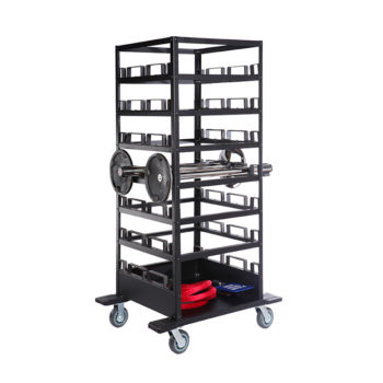18-21 Post Storage Cart with Stanchions_9048-1H